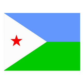 Flag of Djibouti Postcard