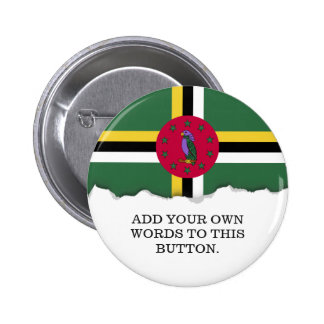 Flag of Dominica 6 Cm Round Badge