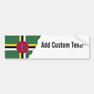 Flag of Dominica Bumper Sticker