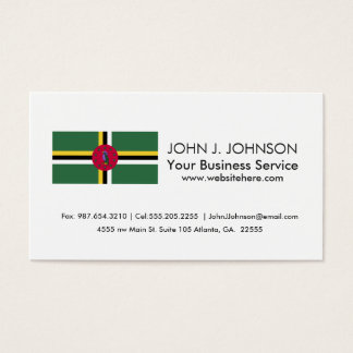 Flag of Dominica Business Card