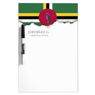 Flag of Dominica Dry-Erase Board