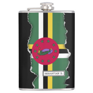 Flag of Dominica Flasks