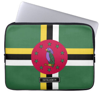 Flag of Dominica Laptop Computer Sleeve