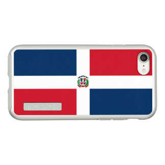 Flag of Dominican Republic Silver iPhone Case