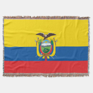 Flag of Ecuador Throw Blanket