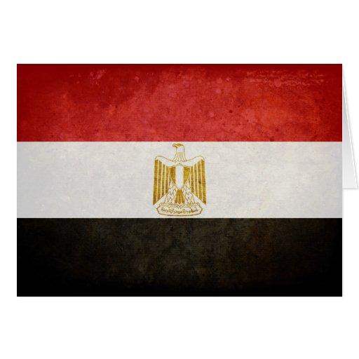 Flag of Egypt Greeting Card