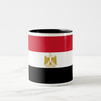 Flag of Egypt Two-Tone Coffee Mug