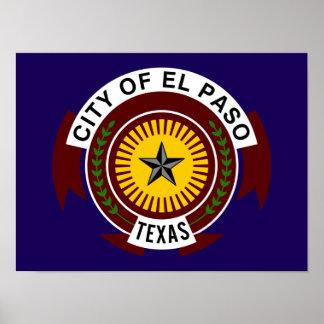 Flag of El Paso Poster
