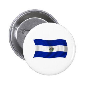 Flag of El Salvador Pinback Button