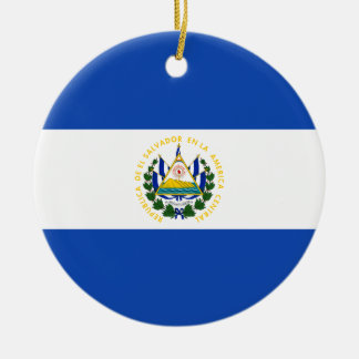 Flag of El Salvador - Bandera de El Salvador Ceramic Ornament