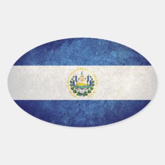 Flag of El Salvador Oval Sticker