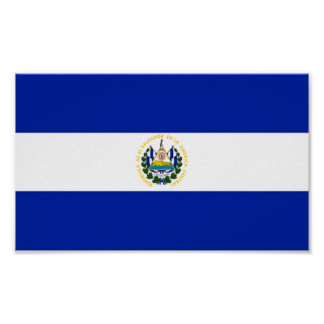 Flag of El Salvador Poster