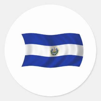 Flag of El Salvador Round Sticker