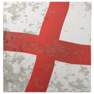 Flag of England and Saint George Grunge Napkin