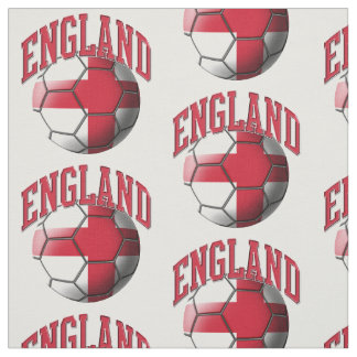 Flag of England Soccer Ball Pattern Fabric