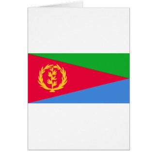 Flag of Eritrea - የኤርትራ ሰንደቅ ዓላማ - علم إريتريا Card