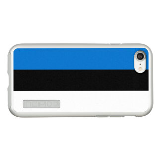 Flag of Estonia Silver iPhone Case
