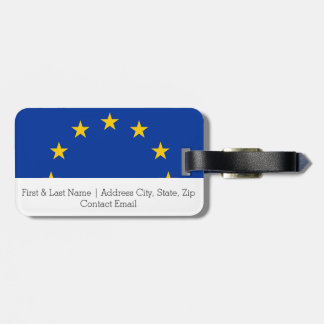 Flag of Europe, European Flag Bag Tag