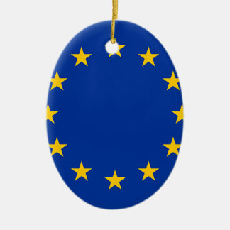 Flag of Europe, European Flag Ceramic Oval Decoration