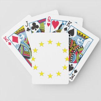Flag of Europe - European Flag - EU European Union Bicycle Playing Cards