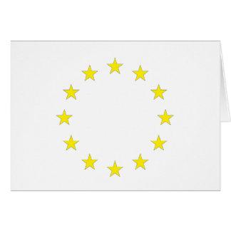 Flag of Europe - European Flag - EU European Union Card