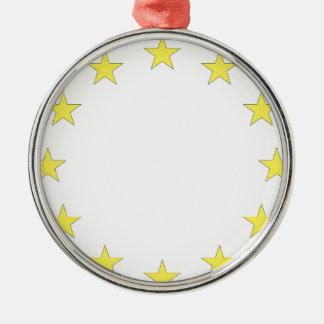 Flag of Europe - European Flag - EU European Union Metal Ornament