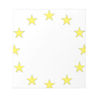 Flag of Europe - European Flag - EU European Union Notepad