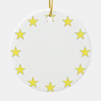 Flag of Europe - European Flag - EU European Union Round Ceramic Decoration