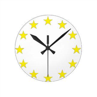 Flag of Europe - European Flag - EU European Union Round Clock