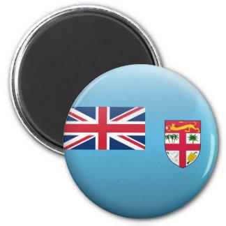 Flag of Fiji 6 Cm Round Magnet