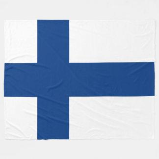 Flag of Finland Blue Cross Flag Fleece Blanket