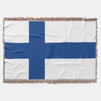 Flag of Finland Blue Cross Flag Throw Blanket