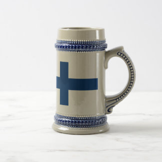 Flag of Finland Blue Cross Suomi Beer Stein