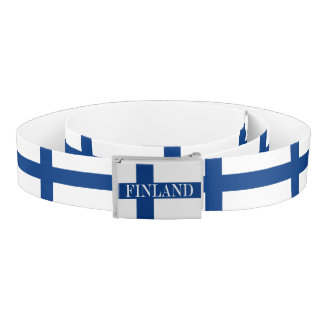 Flag of Finland Blue Cross Suomi Belt