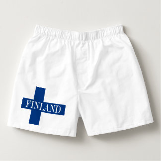 Flag of Finland Blue Cross Suomi Boxers