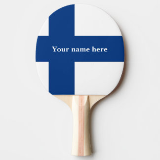 Flag of Finland Blue Cross Suomi Ping Pong Paddle