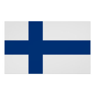 Flag of Finland Blue Cross Suomi Poster