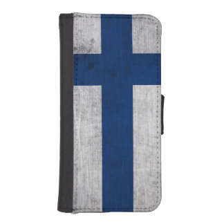 Flag of Finland Grunge iPhone SE/5/5s Wallet Case