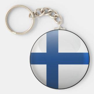 Flag of Finland Key Ring