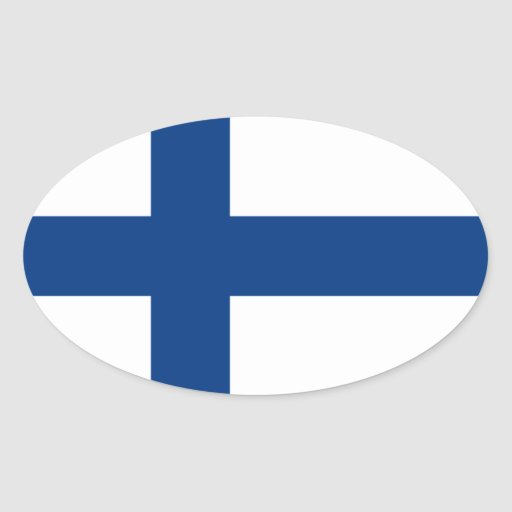 Flag of Finland Oval Sticker