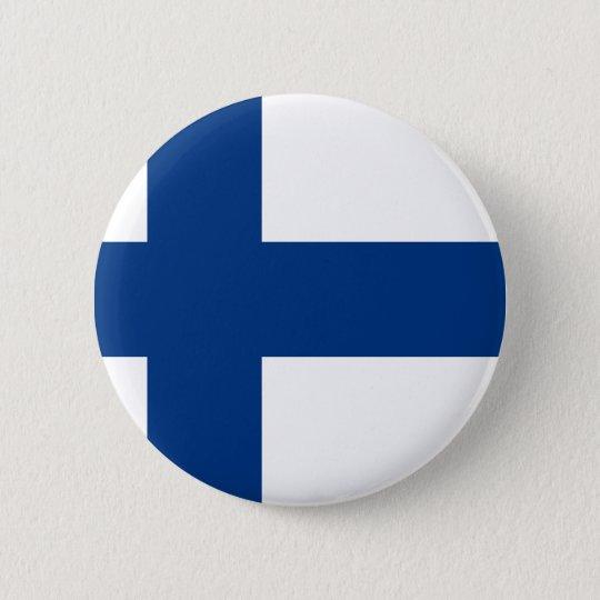 Flag of Finland (Suomen lippu, Finlands flagga) 6 Cm Round Badge