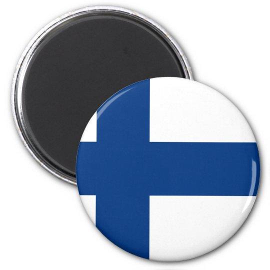 Flag of Finland (Suomen lippu, Finlands flagga) 6 Cm Round Magnet