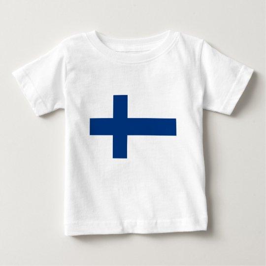 Flag of Finland (Suomen lippu, Finlands flagga) Baby T-Shirt