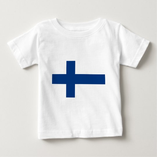 Flag of Finland (Suomen lippu, Finlands flagga) Baby T-Shirt