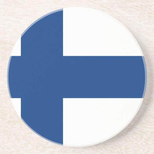 Flag of Finland (Suomen lippu, Finlands flagga) Beverage Coasters