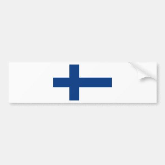 Flag of Finland (Suomen lippu, Finlands flagga) Bumper Sticker