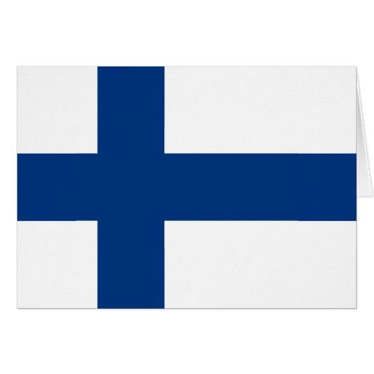 Flag of Finland (Suomen lippu, Finlands flagga) Card