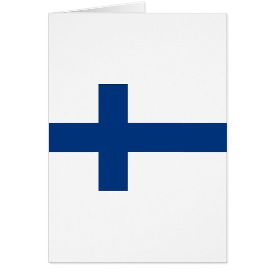 Flag of Finland (Suomen lippu, Finlands flagga) Card