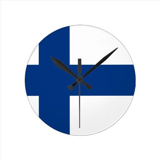 Flag of Finland (Suomen lippu, Finlands flagga) Clock
