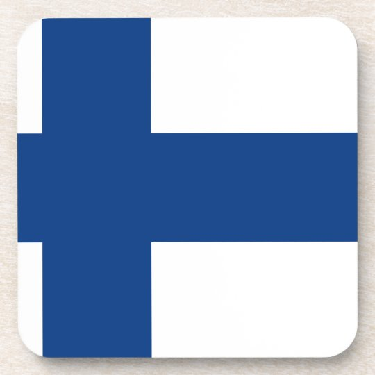 Flag of Finland (Suomen lippu, Finlands flagga) Coaster